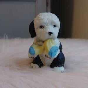 Vintage Sheepdog Puppy Figurine